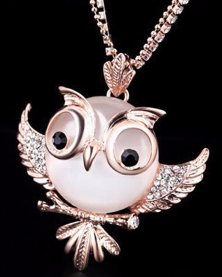 BIG OWL STATEMENT NECKLACE