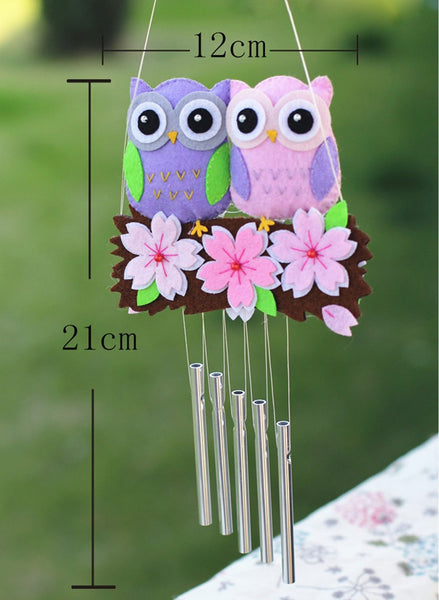 DIY Felt Owl Wind Chime