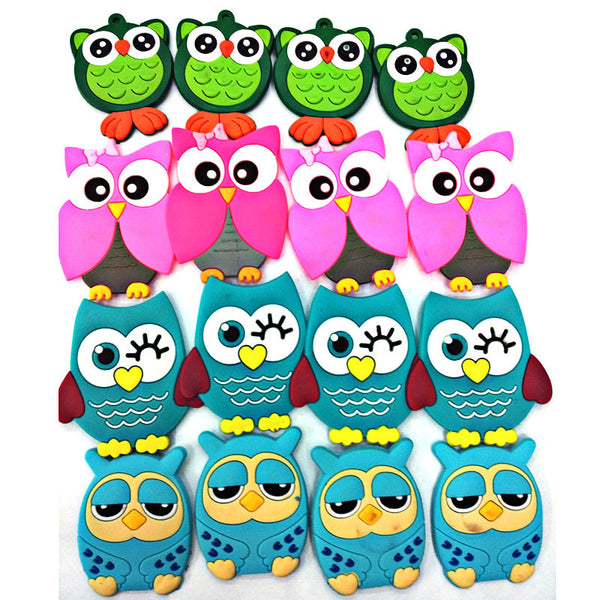 15 Piece Cartoon Owl Multicolor Fridge Magnets