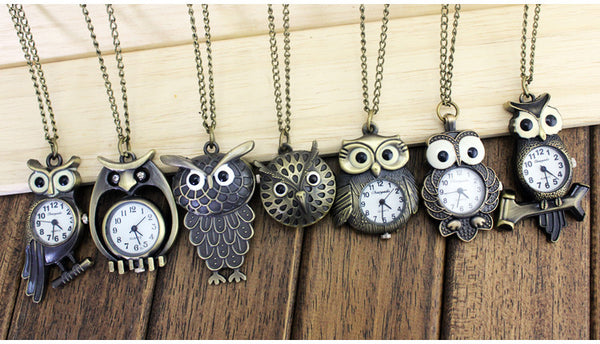 Owl Watch Necklaces