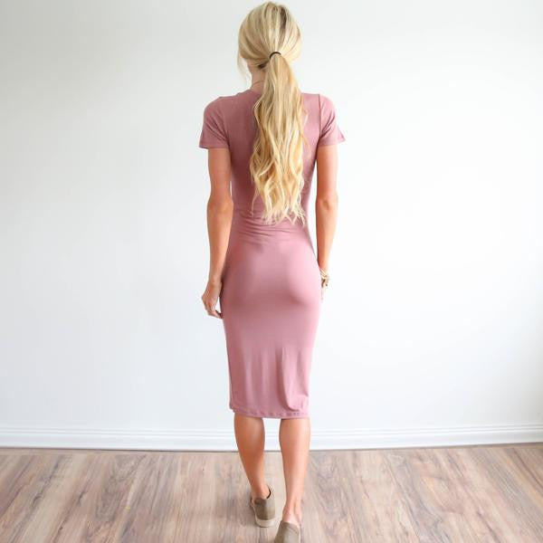 Easy Dress in Mauve