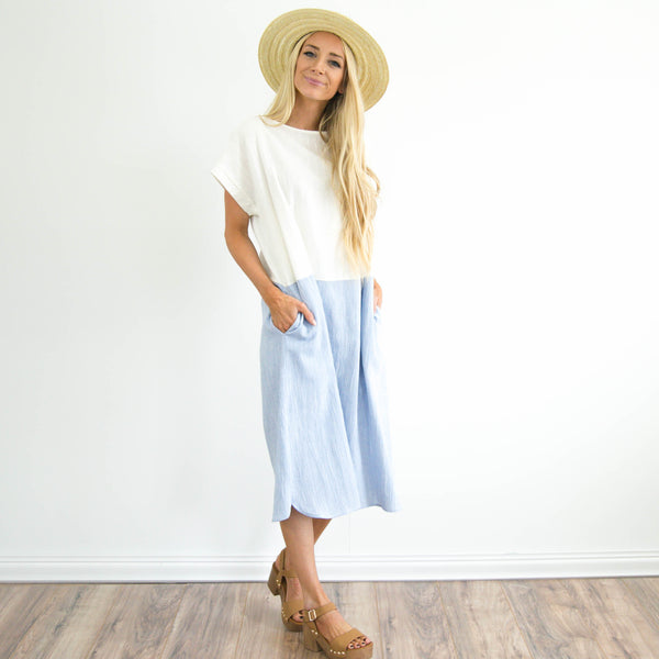 Shelby Dress in Light Blue