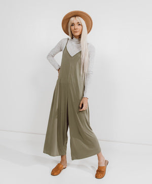 Megan Olive Green Jumpsuit