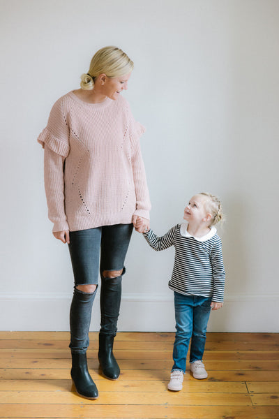 Gracie Sweater in Blush