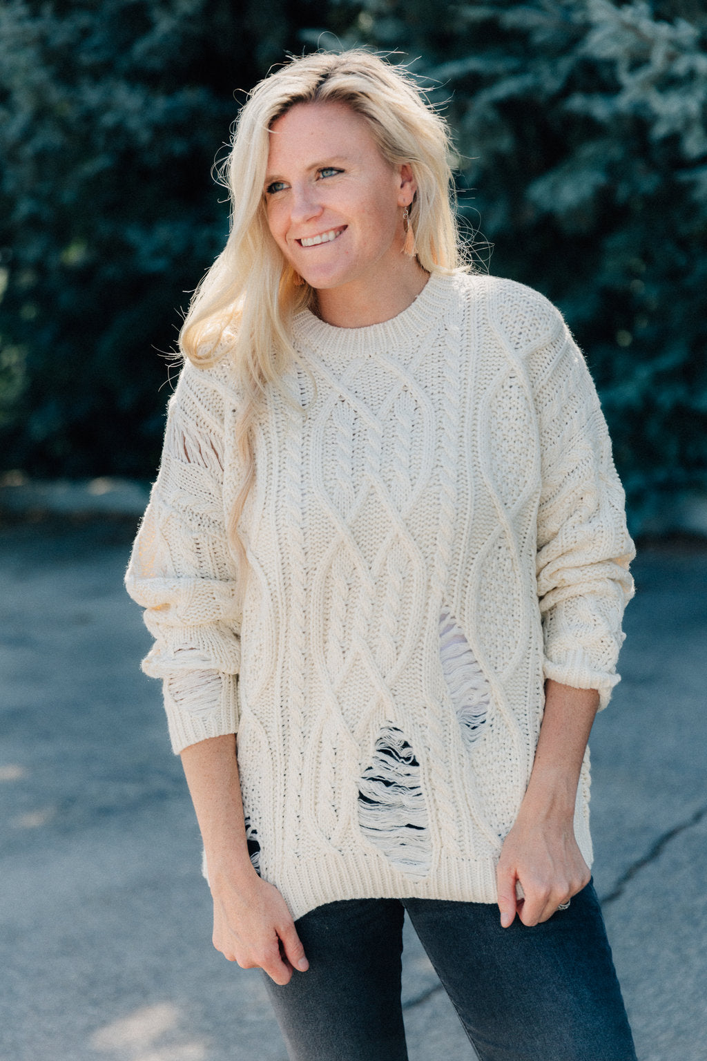 Apple Picking Cable Knit Sweater