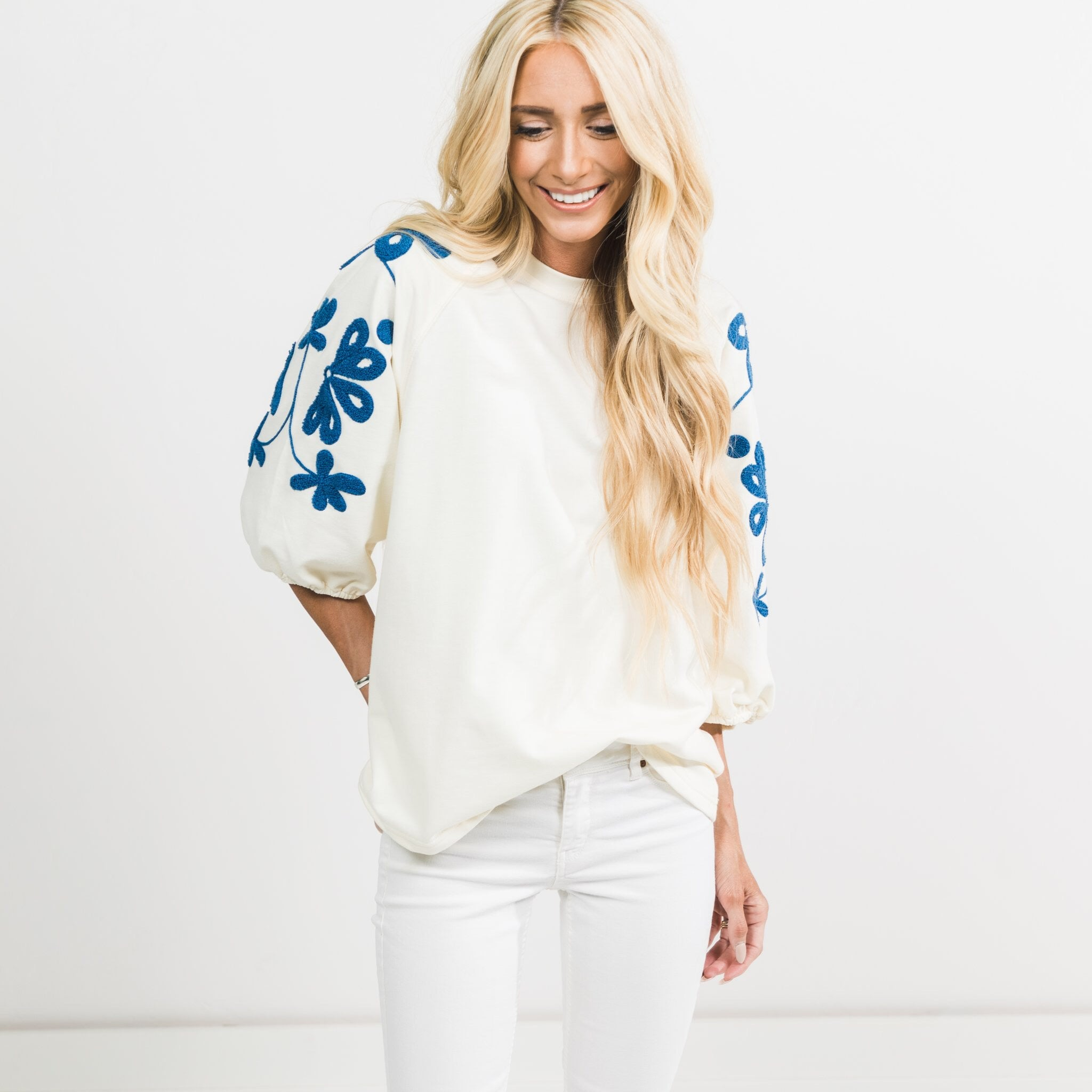 Addison Embroidered Top