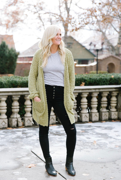 Lizzie textured cardigan