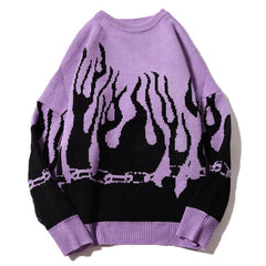 Flamin' Sweater fire flame jumper