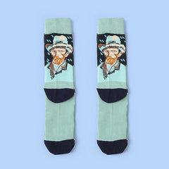Van Gogh Self Portrait Socks oil painting
