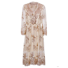 beige Sequin Dress boogzel apparel
