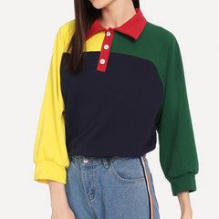 color block gtunge 90s sweatshirt