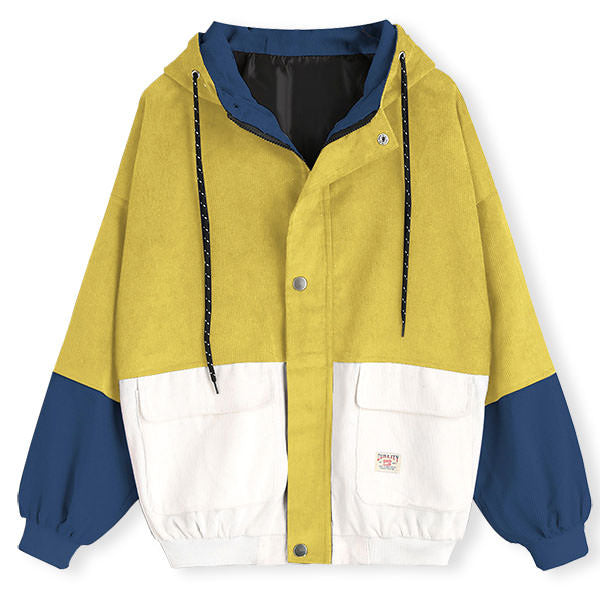 2.0 90s Kids Corduroy Hooded Jacket