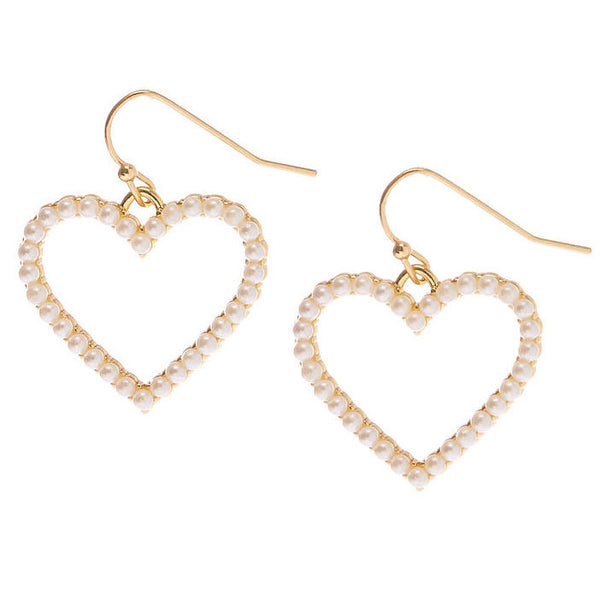 Forbidden Hearts Pearl Hoops