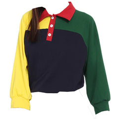 color block 90s sweatshirt
