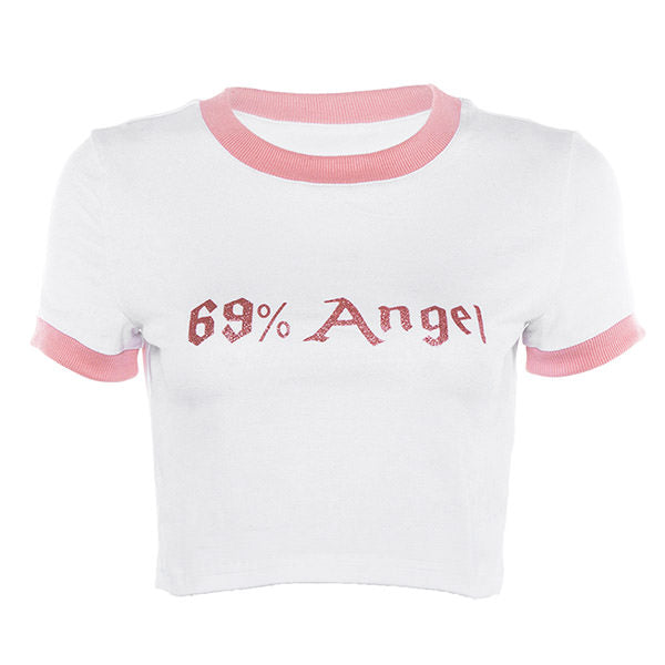 69% Angel Crop Tee