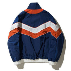 90s Kids Vintage blue red Unisex Bomber Jacket stripe