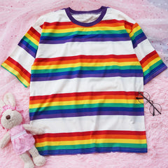 Shop 90s Kids Rainbow Tee at Boogzel Apparel Free Shipping