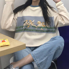 angel sweatshirt aesthetic clothes boogzel apparel