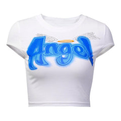 Angel Cropped Tee at Boogzel Apparel