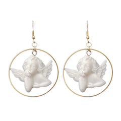 Angel Hoop Earrings at Boogzel Apparel