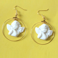 Shop Angel Hoop Earrings at Boogzel Apparel Free Shipping