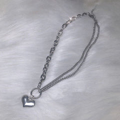 Asymmetric Heart Necklace