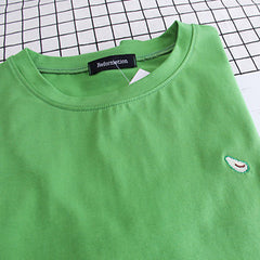 Avocado embroidery T-Shirt boogzel apparel