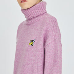 Shop Banana Roll Neck Sweater at Boogzel APparel