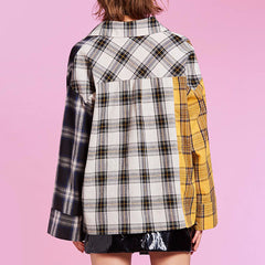 yellow grey plaid shirt boogzel apparel