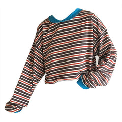 Break Away Striped Sweatshirt at Boogzel Apparel