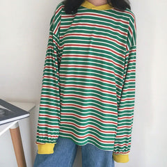Shop Break Away Striped Sweatshirt at Boogzel Apparel Free Shipping