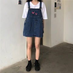 Butterfly Dungaree Dress