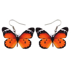 orange butterfly earrings