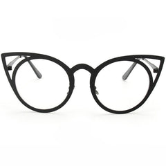 Cat Eye Metallic Glasses Boogzel Apparel