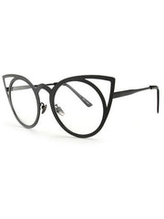 Shop Cat Eye Metallic Glasses Boogzel Apparel
