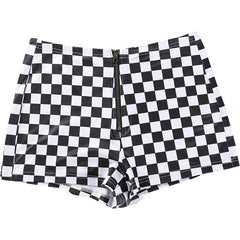 Checker Zip Shorts by Boogzel Apparel
