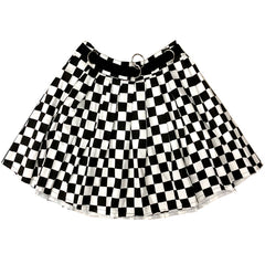 Checkered Mini Skirt at Boogzel Apparel