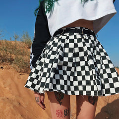 Shop Checkered Mini Skirt at Boogzel Apparel
