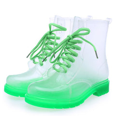 transparent green boots boogzel apparel