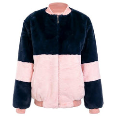 Shop Color Block Fuzzy Jacket at Boogzel Apparel