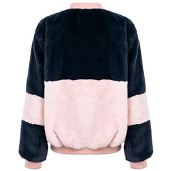 Shop Color Block Fuzzy Jacket at Boogzel Apparel Free Shipping