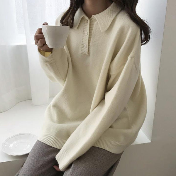 Cozy Days Button Neck Sweater