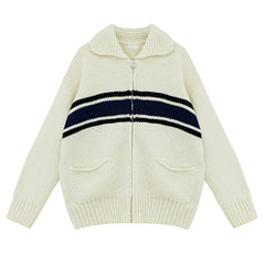 zip up knit jumper women