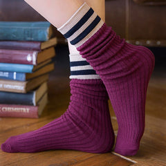 Cozy Up Stripe Socks boogzel apparel