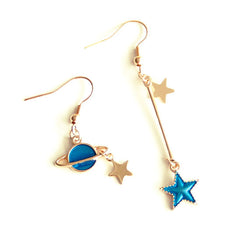 star saturn earrings boogzel