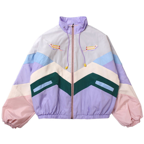 Embroidered Tennis Jacket