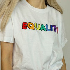 Equality Embroidered T-Shirt boogzel apparel