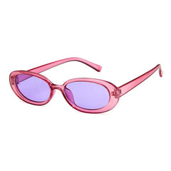 Buy Erin Oval Sunglasses at Boogzel Apparel Free Shipping Pink Purple