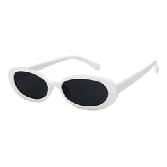 Buy Erin Oval Sunglasses at Boogzel Apparel Free Shipping White