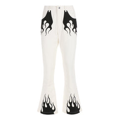 Flamin' Flared Trousers at Boogzel Apparel